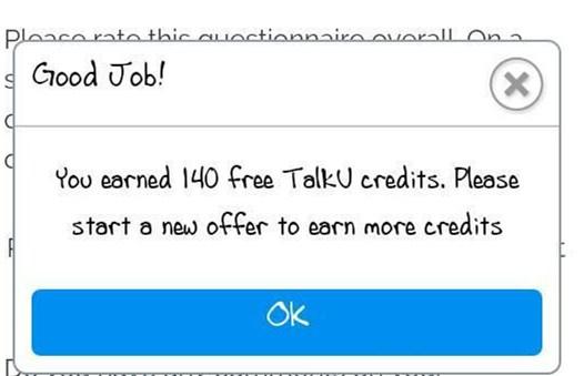 TalkU Credits Tips